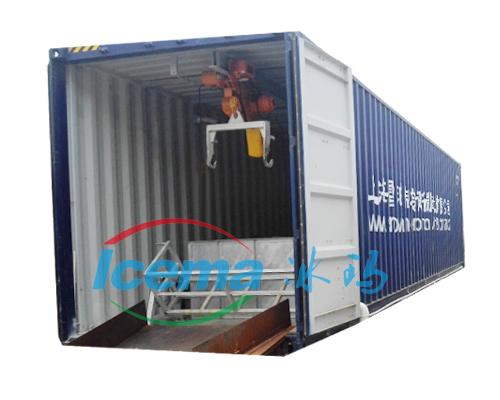 日產5噸集裝箱鹽水塊冰機