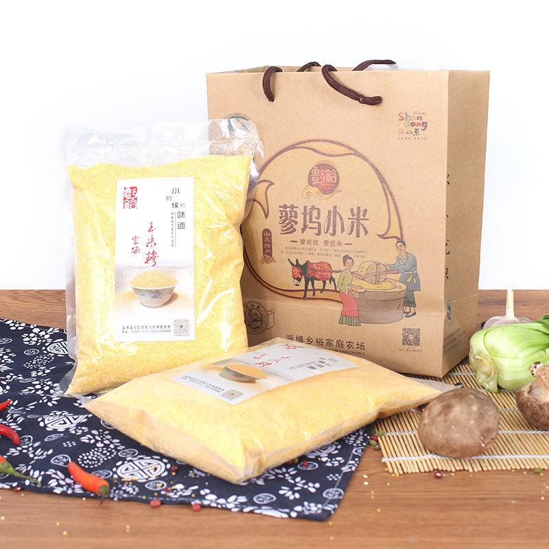 鲁乡裕粗制玉米糁 原料原色健康营养