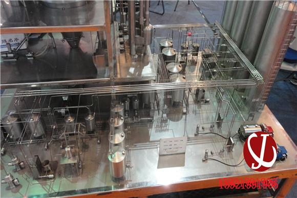 牛奶储存生产线模型