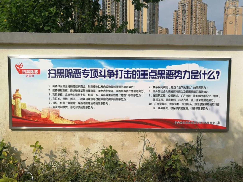 成都市锦江区成龙街道办扫黑除恶宣传栏制作