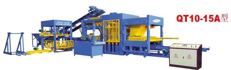 QT0-15A全自动混凝土(双布料彩色)砌块成型机