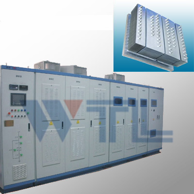 High heat inverter with heat pipe radiator