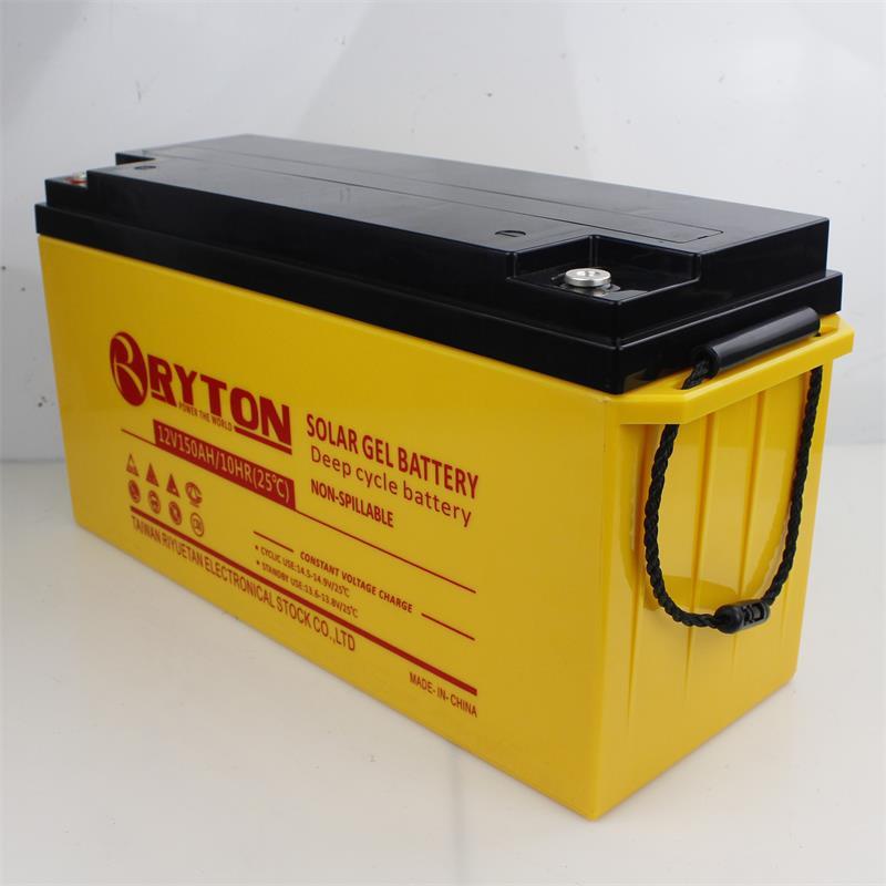 Yellow SOLAR GEL BATTERY 12V150AH, 10HR