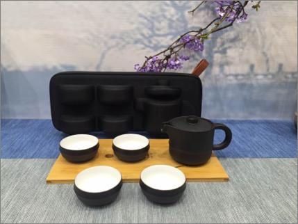 湖畔居 旅行茶具套装茶杯茶壶君子之风茶具