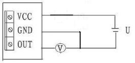 VT120风速变送器电路连接电压输出型