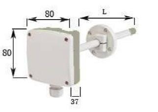 VT120风速变送器尺寸图
