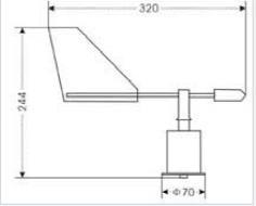 VT121-X风向变送器安装图片