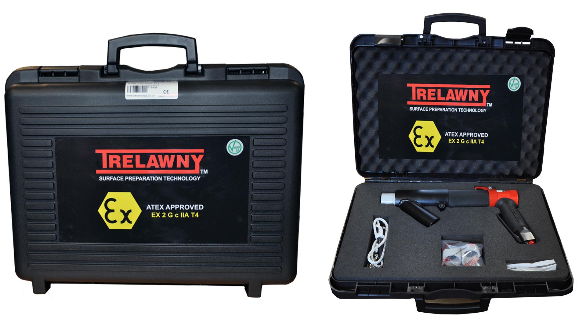 特牢尼技术ATEX防爆认证的针式除锈机套装