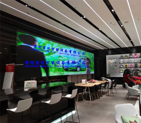 富沐55寸拼接屏助力柳州万达广场-宝骏汽车展示厅