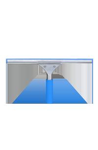 CT35厘米玻璃刮(蓝色胶条)