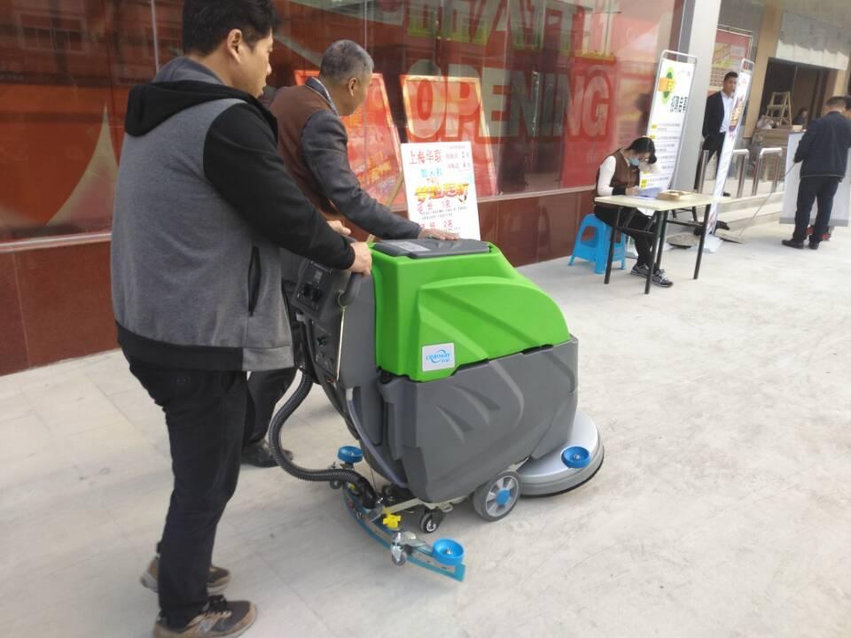 科威洗地机搞事情-上海华联超市交机