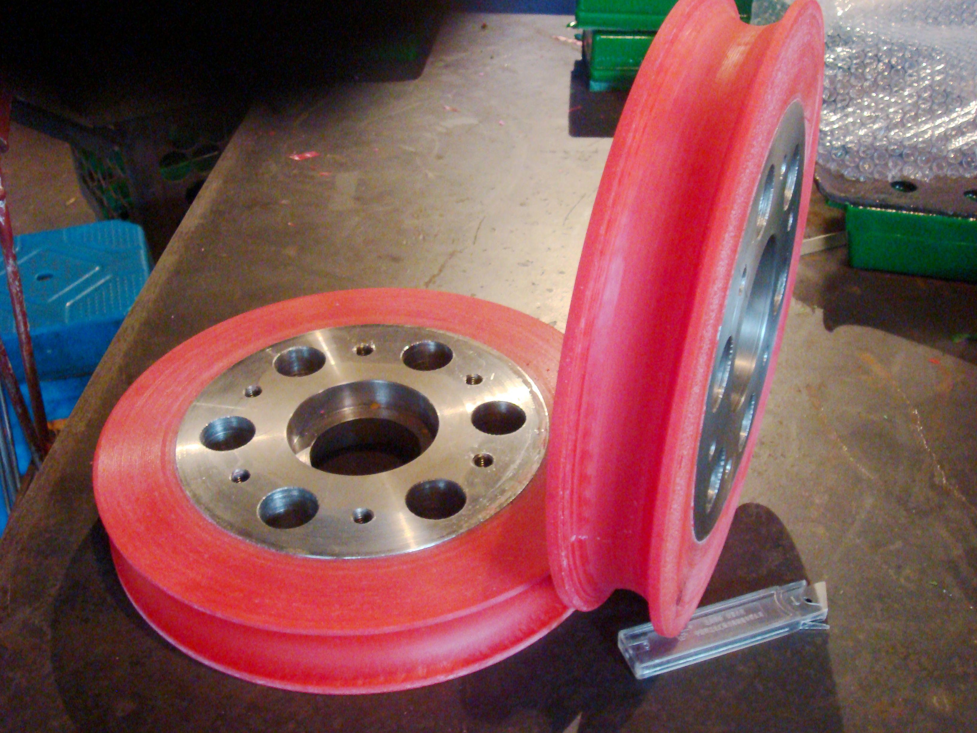铜大拉机用铁芯PU轮