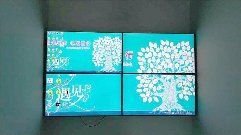 陕西40寸液晶拼接屏榆林学校教育展示案例