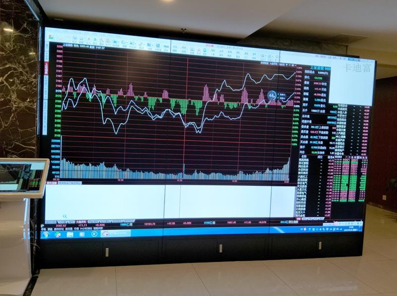 55寸金融行业大屏液晶拼接屏案例