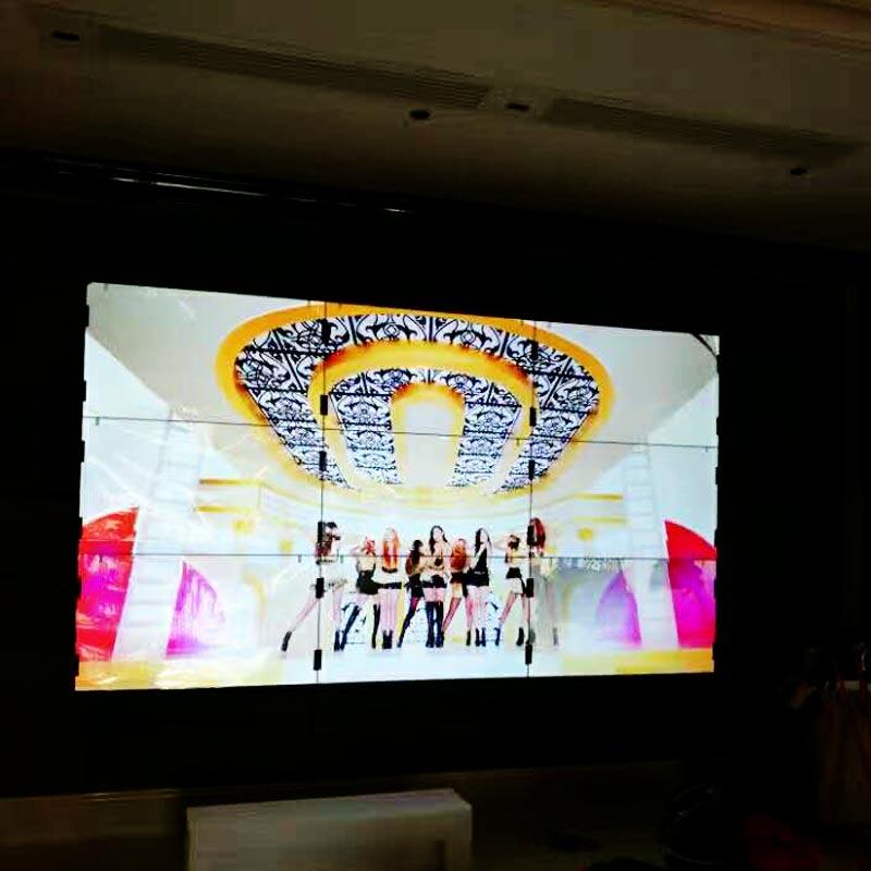 广东房地产55寸壁挂拼接大屏展示案例