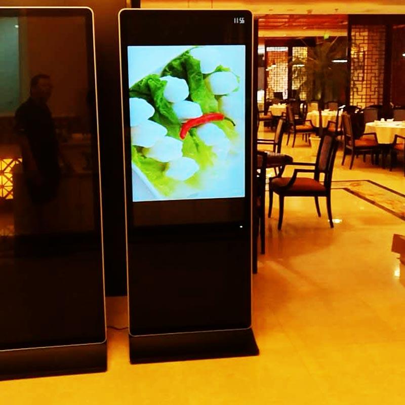 55寸立式触摸一体机餐厅监控案例