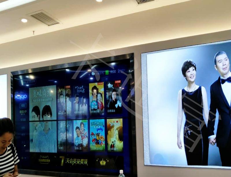 重庆苏宁易购金立手机店49寸多屏拼接宣传案例