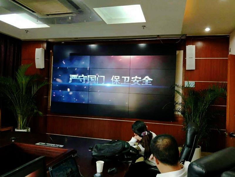检验检疫局会议室55寸大屏幕拼接屏案例