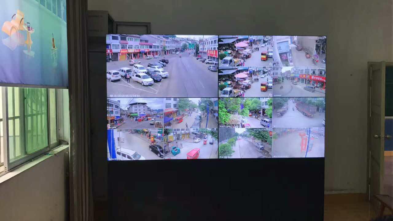 绥阳县55寸大屏幕电视拼接墙派出所监控案例