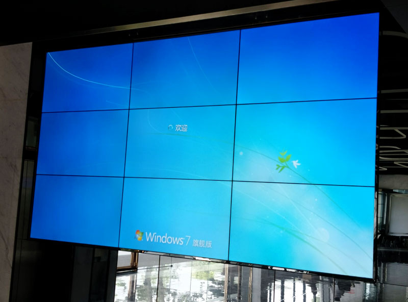 温州55寸大屏幕液晶拼接墙电声器材展示案例
