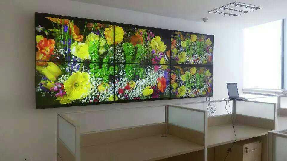 杭州写字楼55寸液晶拼接大屏效果图
