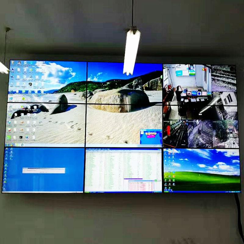 成都铁路局46寸液晶拼接屏监控效果图