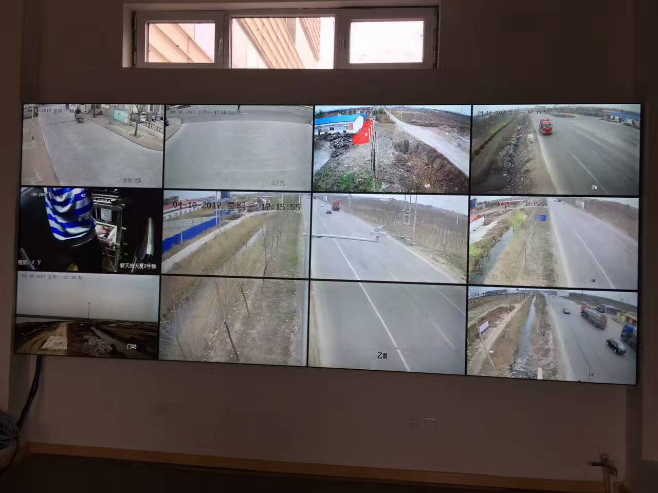 天津49寸液晶拼接屏道路管理监控案例