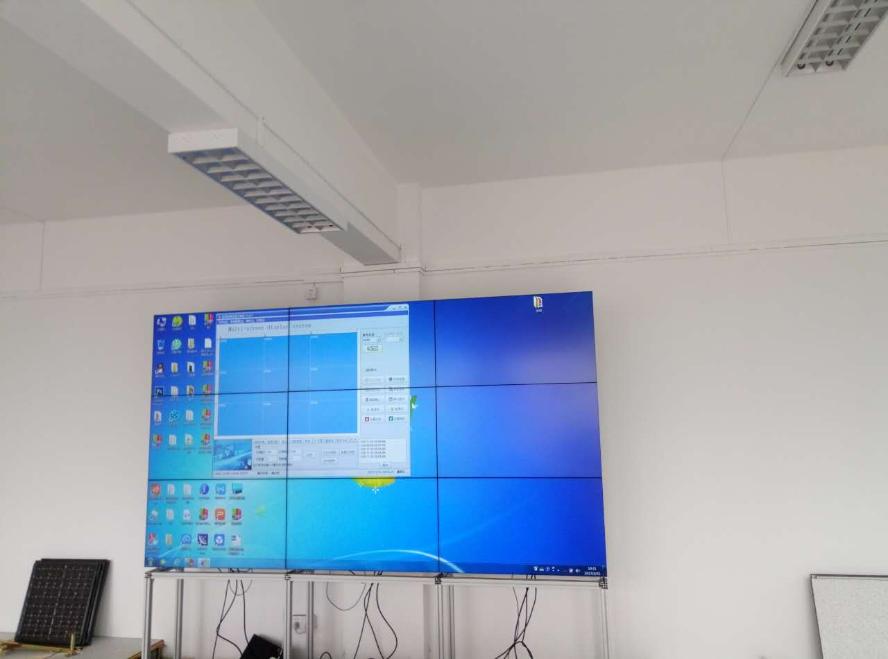 卡迪富55寸液晶拼接屏物流监控管理系统案例