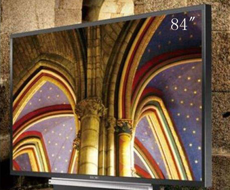 卡迪富84寸液晶监视器工业显示器4K全高清商用lg面板