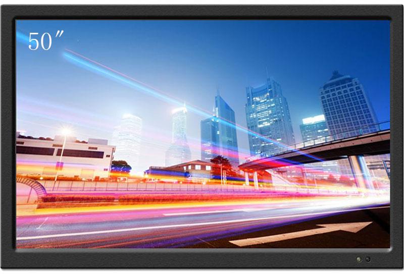 卡迪富液晶监视器50英寸4K网络高清工业监控显示器金属壳