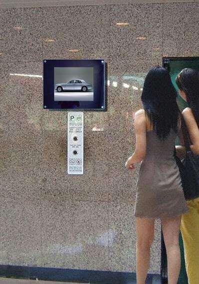 楼宇广告机楼梯口的应用图