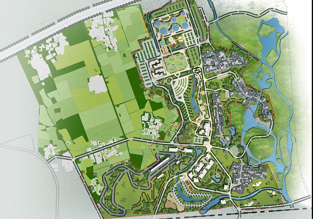 """规划思路:营地规划设计思路为,依托青龙峡漂流及自然景观,打造包含"""""""