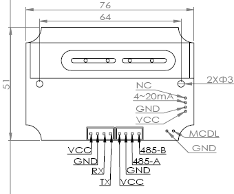 INFC301结构尺寸图介绍