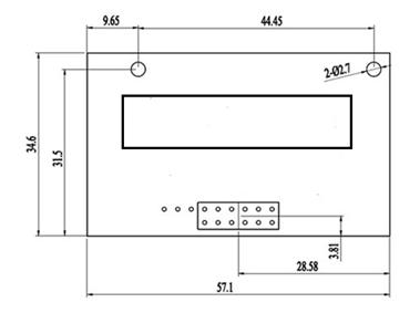 INFC400系列红外CO2传感器结构尺寸图