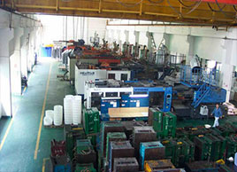 Large injection molding machine workshop