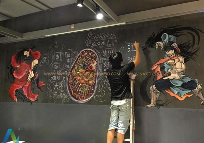 特色餐厅墙绘