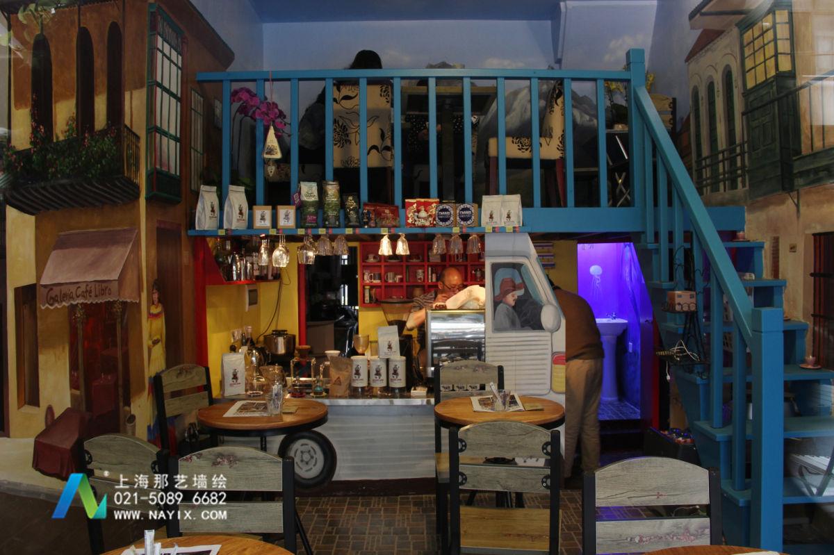 永康路咖啡厅墙体彩绘