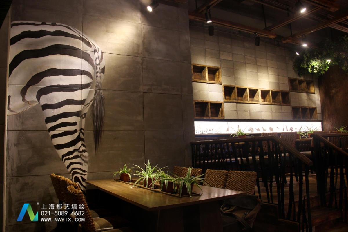 咖啡厅主题墙绘