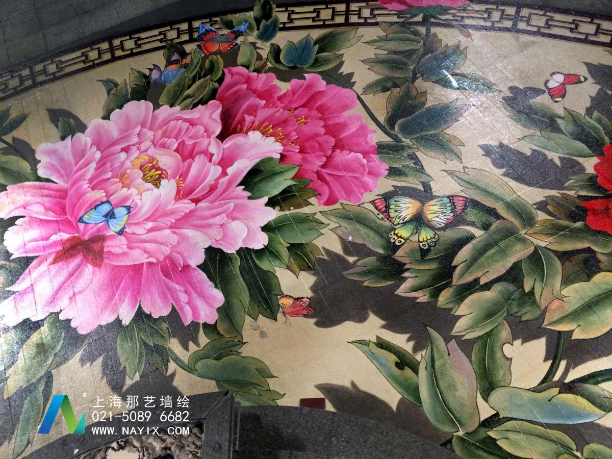 中信广场中庭3D牡丹图