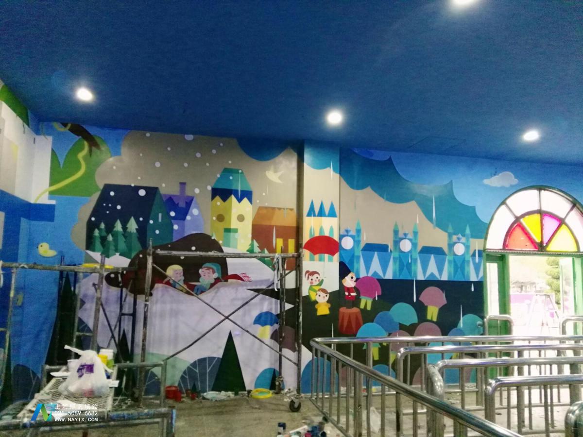 苏州乐园主题墙绘