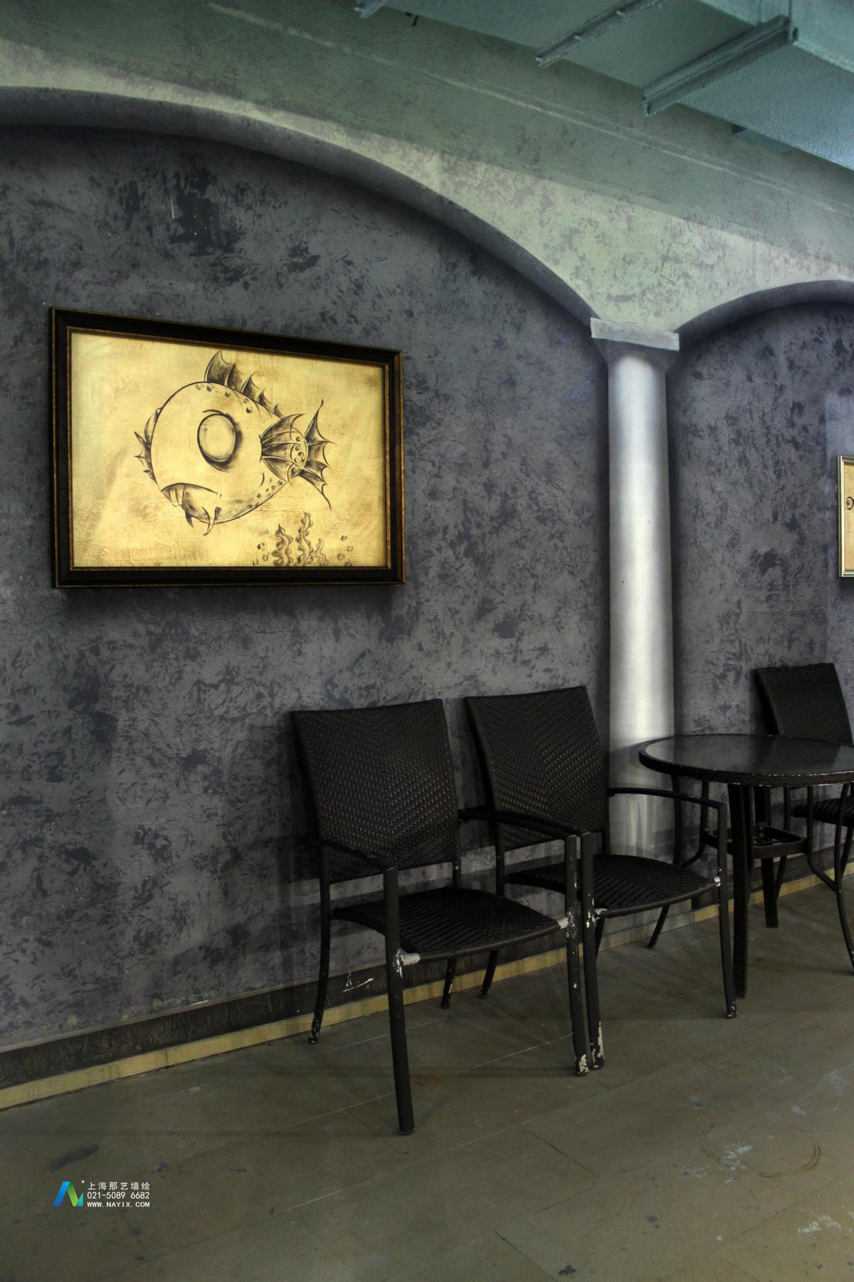 健身馆手绘墙