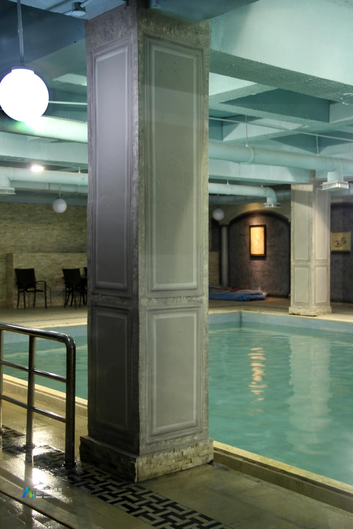 上海游泳池壁画