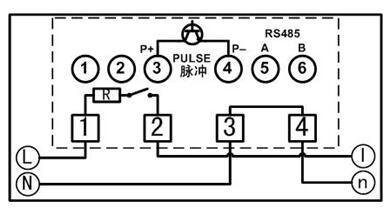 DDSY879-F单相电子式预付费电能表(多费率型)接线图