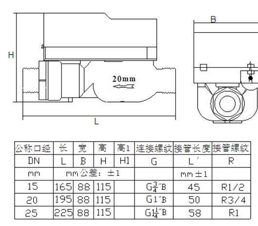 LXSK-WF2物联网无线费控抄表外形尺寸图