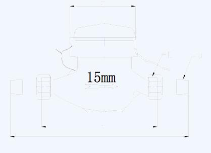 光电直读远传水表安装尺寸示意图