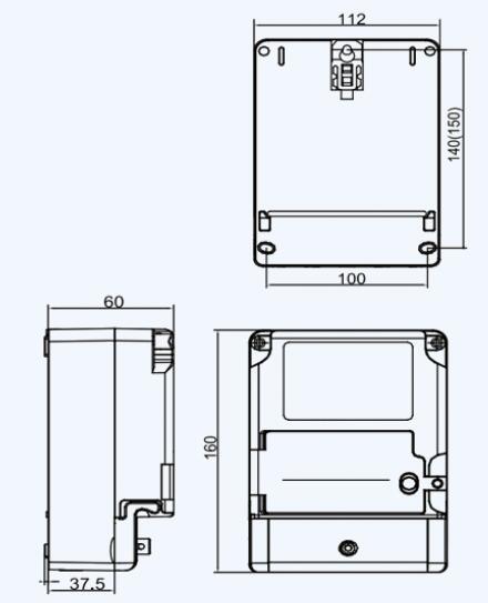 DDSY879单相电子式预付费电能表安装尺寸图