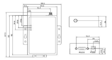 DH6200-GPRS3型 数据采集终端安装尺寸