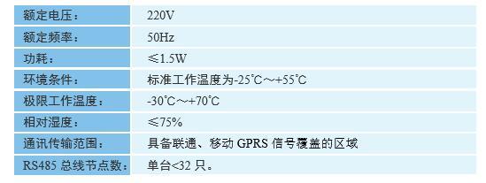 DH6200-GPRS型 数据采集终端技术参数图