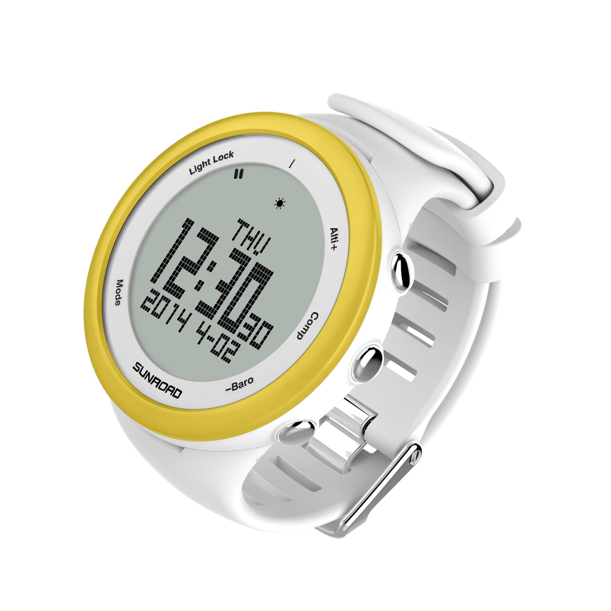 白色多功能运动手表