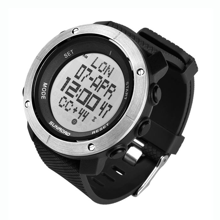 黑色电子运动手表